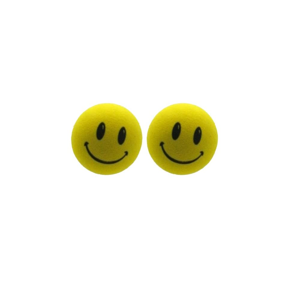 Happy Smiley Face Yellow Car Truck SUV Antenna Topper 2PK on