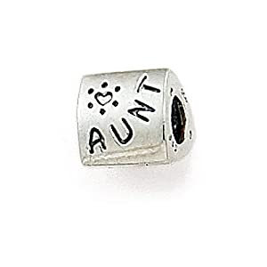 Zable(tm) Sterling Silver Aunt Bead / Charm