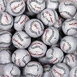 Baseballs Premium Solid Milk Chocolate Balls (1 Lb - 80 Pcs)