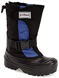 Stonz Winter Boots For Cold Weather, Snow, Ice and Winter Sports - Insulated, Super Light, Warm, Slate Blue/Black, Youth 2