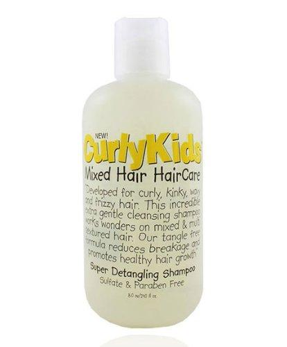 CurlyKids Mixed Haircare Super Detangling Shampoo, 8 Ounce