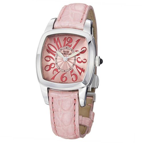 JeanRichard TV Screen Lady Pink Leather Strap Quartz Watch 95006-11-91A-AA9D