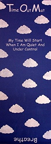 Time Out Mat - Game Changing New Parenting Tool for consistent, positive and safe child discipline (Blue)