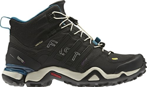 Adidas Cf227 Women'S Terrex Fast R Mid Gtx Boot Solid Grey/Black/Vivid Teal 12 M Us