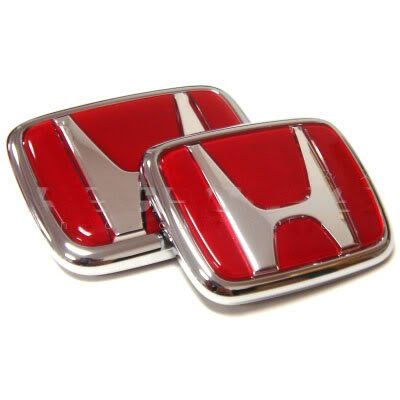 Generic Quality Red Honda Type R Emblem Set CIVIC ACCORD INTEGRA (R Emblem compare prices)