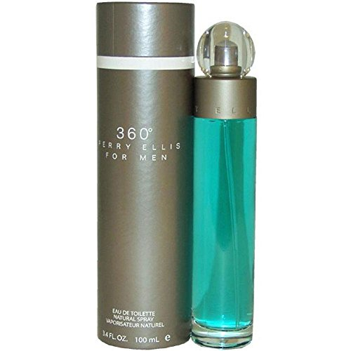 360 by Perry Ellis for Men Eau De Toilette Spray, 3.4 Ounce