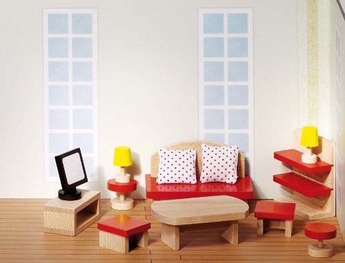 Goki 51716 - Puppenmöbel Wohnzimmer