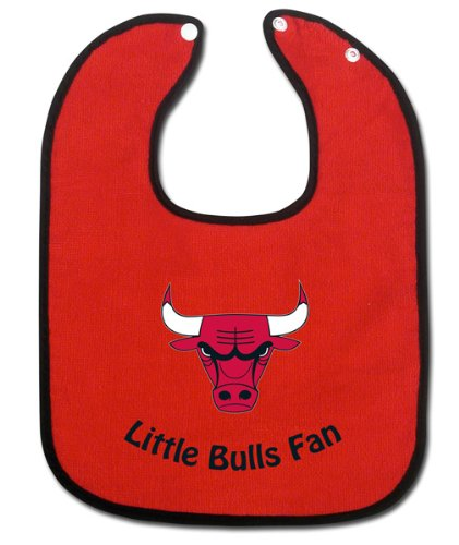 Chicago Bulls Official Nba Infant One Size Baby Bib front-971951