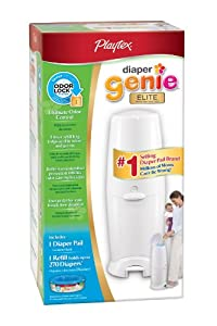 Playtex Diaper Genie Elite Diaper Disposal Pail, White