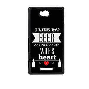 Vibhar printed case back cover for Sony Xperia C Beer