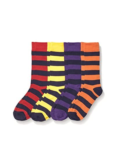 Basic/Outfitters Men's Bright Rugby Crew Sock 4-Pack
