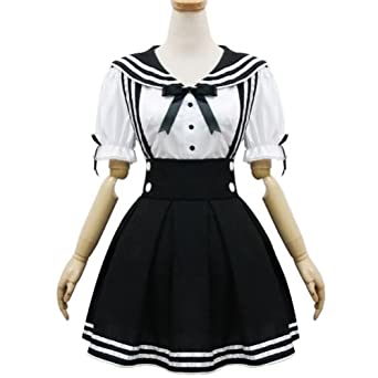 Amazon.com: Japan School Uniform Cosplay Costume Anime Girl Maid