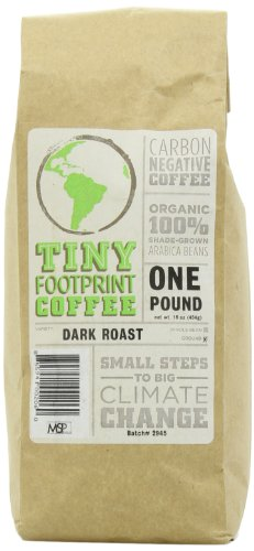 Tiny Footprint Coffee Organic Dark Roast Ground Coffee, 16-Ounce Bags (Pack of 2)