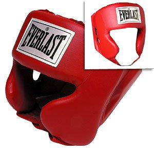 Everlast Adult Boxing Head Gear ~ Color Red Model: 4022