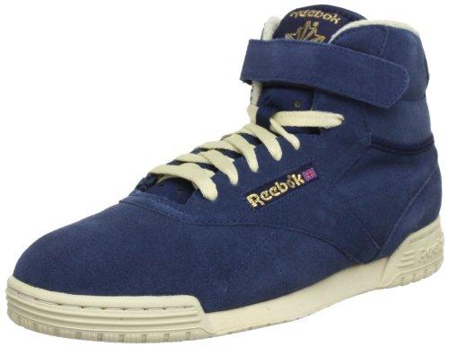 Reebok Mens EX-O-FIT CLEAN HI VINTAGE High Top Blue Blau (ATHLETIC NAVY/BONE/ REEBOK BRASS) Size: 11.5 (45.5 EU)
