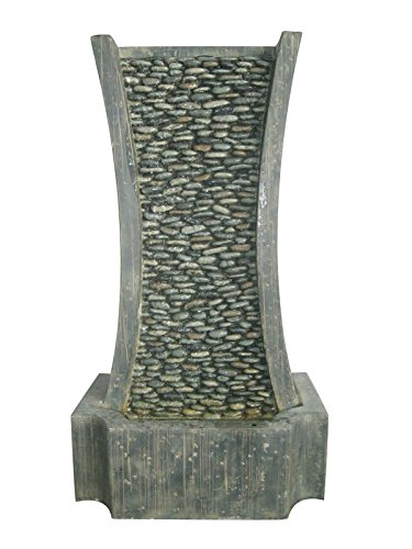 Nexos trading fontaine décorative galets steinlook fontaine de jardin
