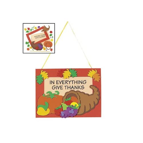 In Everything Give Thanks Door Hanger Craft Kit   Crafts for Kids & Decoration Crafts