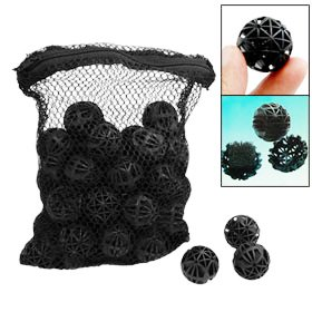 Aquarium Filtration Bio-Balls - Black, Qty of 50