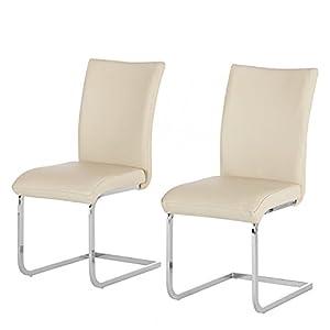 2x design echt leder schwingstuhl osiris hochlehner. Black Bedroom Furniture Sets. Home Design Ideas