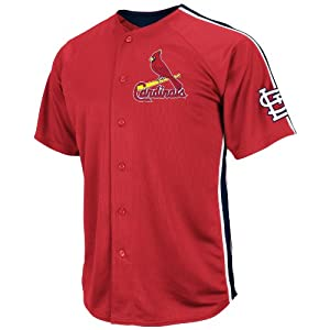 MLB St. Louis Cardinals Mens Y Molina 4 Crosstown Rivalry Jersey, Red Navy White by VF LSG