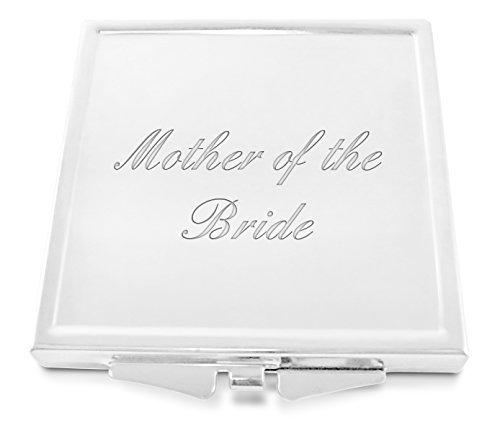 mère de la mariée gravé femmes place miroir compact avec coffret cadeau - G11