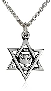 """Bob Siemon Sterling Silver Star of David with Dove Pendant Necklace, 20"""""""