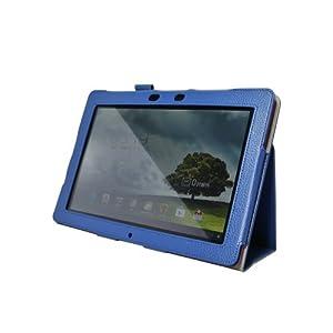 IVSO® Slim-Book Etui Housse en Cuir avec Support pour ASUS Memo Pad Smart ME301T 10.1-Inch Tablette (Bleu)