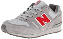 New Balance KL565 Grade Running Shoe (Big Kid),Grey/Red,3.5 W US Big Kid