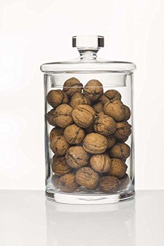 Best Deal 2 X Glass Bonbon Bathroom Storage Jars With A Lid 21 5cm