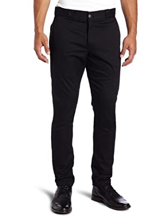 Dickies WP801 Skinny Straight Fit Flat Front Pant Black 26W x 32L