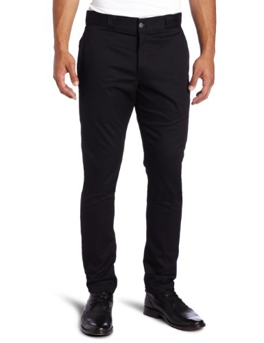 Dickies Men's Skinny Straight Fit Work Pant, Black, 32x30 (Skinny Dress Pants compare prices)