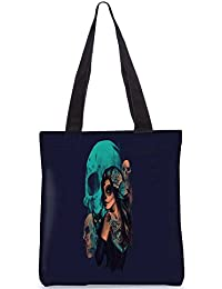 Snoogg Day Of The Dead Digitally Printed Utility Tote Bag Handbag Made Of Poly Canvas