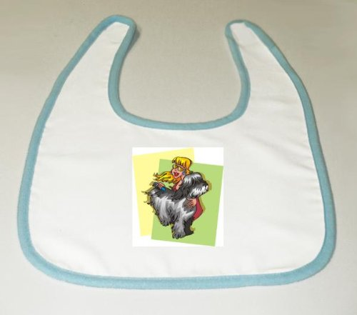 Baby Bib with body, individuals, individual, humans, woman, person, dog, comb, human, persons, grooming, people, pet image