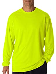 Badger Adult B-Core Long-Sleeve Performance Tee XL Safety Yellow