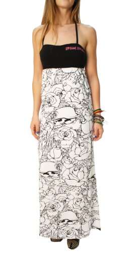 Metal Mulisha Juniors Lady Love Maxi Dress, Optic White, Small