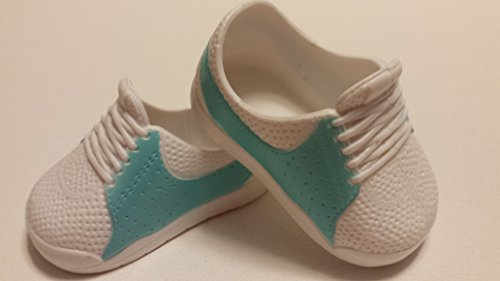 18-inch Doll Aqua/White Tennis Shoes - 1
