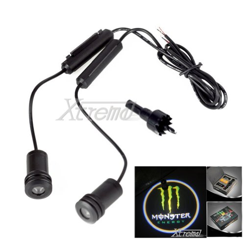 Xtreme® 5W 4Th Generation 2X Led Car Door Laser Projector Ghost Shadow Step Light Logo For Monster