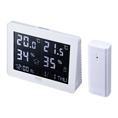 サンワサプライ ワイヤレスデジタル温湿度計(送信機付き) CHE-TPHU4