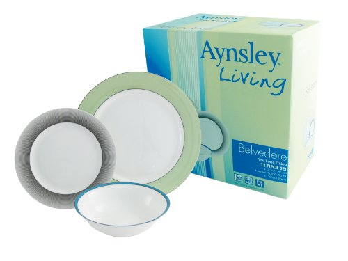 Cheap Price Aynsley 12-Piece Bone China Belvedere Dinnerware Set ...