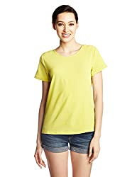 Van Heusen Womens Top (VWTS316L01621_Yellow_S)
