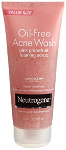 Neutrogena Oil-Free Acne Wash Scrub, Pink Grapefruit, Value Size, 6.7 Ounce