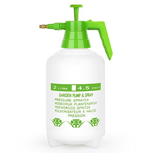 Tacklife (Spreey) pump pressure water sprayers, Hand Hold Garden Sprayer Bottle for Chemicals, Pesticides - DIY for Windows, Tables, Weeds, Car (2L) (Hand Pump Pressure Sprayer compare prices)