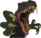 Dinosaurs Dino T Rex Closeup Embroidered Iron On Applique Patch P3988
