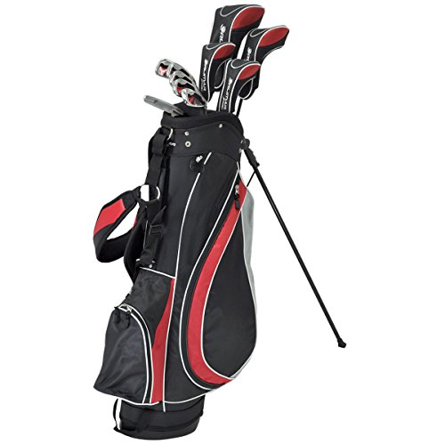 Orlimar Men's Sport Fireline GI Complete Golf Set, Right Hand, Graphite, Senior Flex, Black/Red, Bag, Headcovers