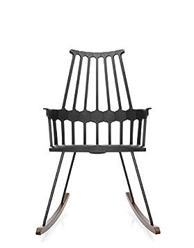 Kartell Comback Sessel, Plastik, schwarz, 59 x 99 x 58 cm