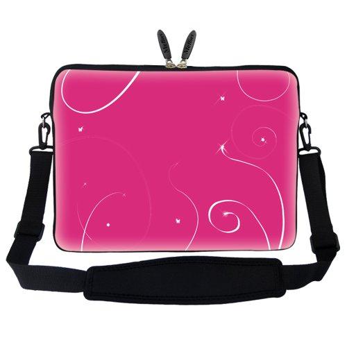 meffort 15 15 6 inch laptop sleeve bag carrying case hidden handle strap pink ebay. Black Bedroom Furniture Sets. Home Design Ideas