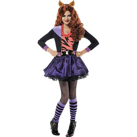 Girls Monster High Clawdeen Wolf Costume Size XLarge (12-14)