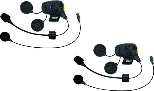 Sena SMH5D-FM-UNIV Ecouteurs Intercom Bluetooth avec Tuner FM Intégré, Dual Pack pour Conducteurs de Scooter et Motos Universal microphone kit