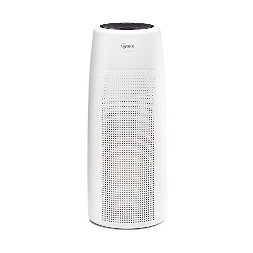 WINIX - Tower Air Purifier - Black/White NK105