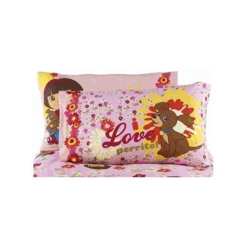 Dora the Explorer Loves Puppy Cotton Rich Reversible Pillowcase - 1